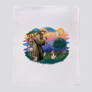 St Francis #2/ PBGV #4 Throw Blanket