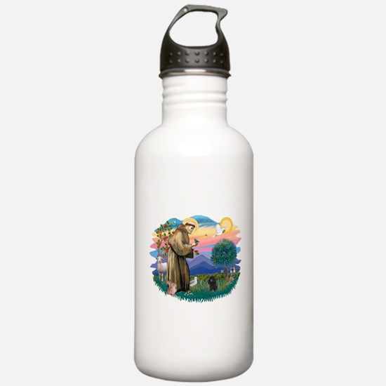 St.Francis #2/ Poodle (Toy Bl Water Bottle