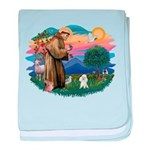 St.Francis #2/ Poodle (Toy W) baby blanket