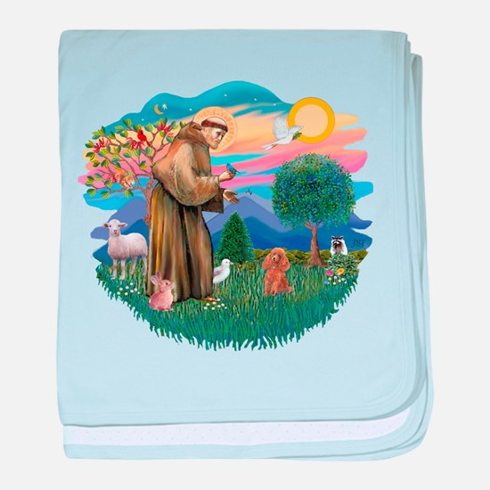 St.Francis #2/ Poodle (Toy A) baby blanket