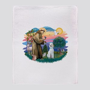 St.Francis #2/ Poodle (Std-Hv Throw Blanket