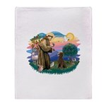 St.Francis #2 / Poodle (ST-Ch Throw Blanket