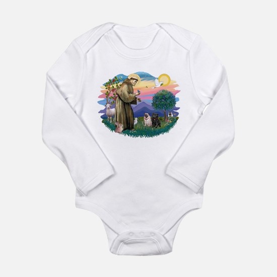 St.Francis #2/ Pugs (2-blk/f) Long Sleeve Infant B