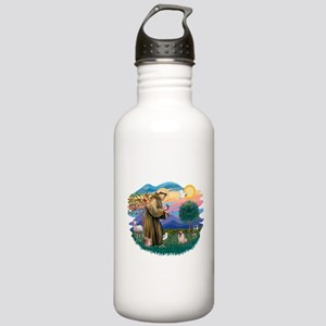 St Francis #2/ Pug (fawn) Stainless Water Bottle 1