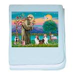 St.Francis (W) - 2 Shelties ( baby blanket