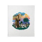 St.Francis #2/ Shih Tzus (4) Throw Blanket