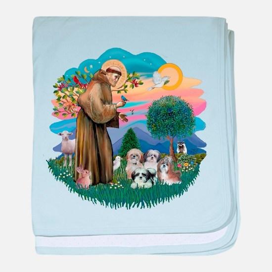 St.Francis #2/ Shih Tzus (4) baby blanket