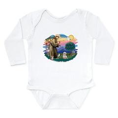 St.Francis #2/ Shih Tzu. (P) Long Sleeve Infant Bo