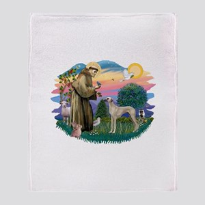 St Francis #2/ Sloughi Throw Blanket