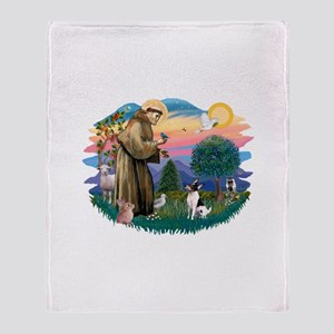 St.Francis #2/ Toy Fox Ter. Throw Blanket