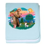 St.Francis #2/ Toy Fox Ter. baby blanket