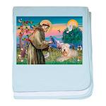 St. Fran #2 / Wheaten Terrier baby blanket