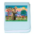 St Francis / Whippet baby blanket