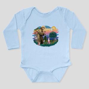 St Francis #2/ Whippet #7 Long Sleeve Infant Bodys