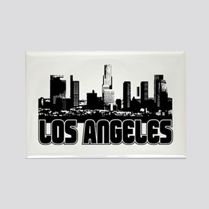 Los Angeles Skyline Rectangle Magnet