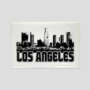 Home Decor Los Angeles Skyline Rectangle Magnet