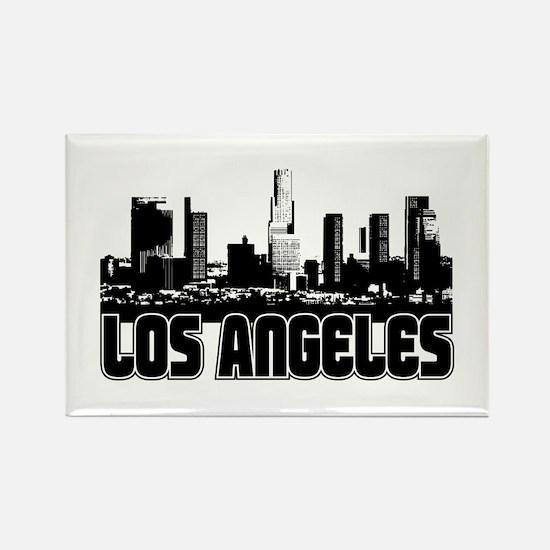 Los Angeles Skyline Rectangle Magnet