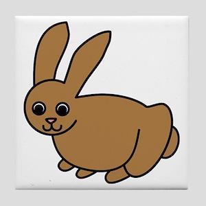 Brown Bunny Tile Coaster