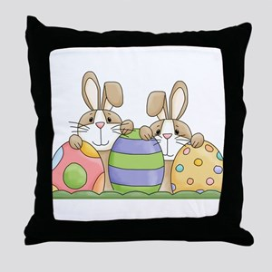 Easter Bunny Inside Easter Egg Throw Pillow
