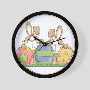 Easter Bunny Inside Easter Egg Wall Clock