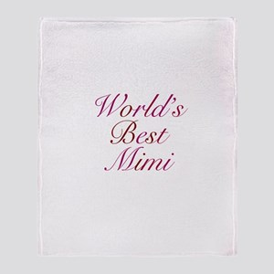 World's Best Mimi Throw Blanket