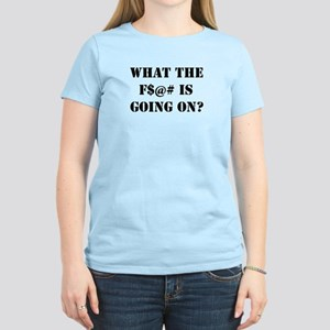 """What The F Is Going On?"" Women's Light"