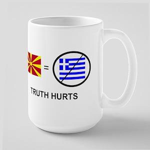 Macedonian not Greek Large Mug