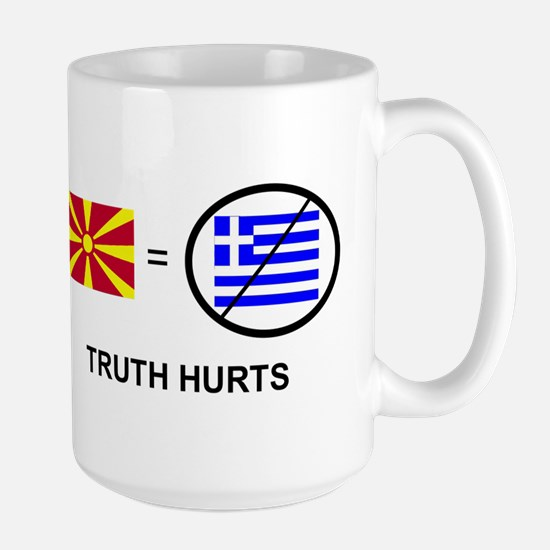 Macedonian not Greek Large Mug