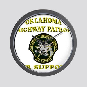 Oklahoma Highway Patrol Air U Wall Clock