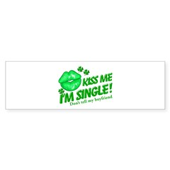 Kiss Me Don't Tell My Boyfriend Sticker (Bumper)