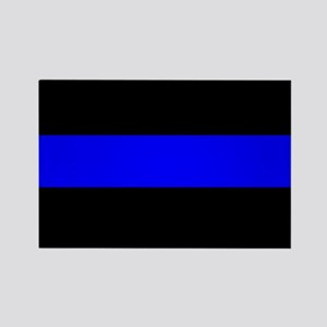 Thin Blue Line Police Rectangle Magnet