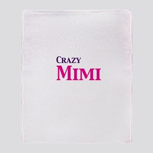 Crazy Mimi Throw Blanket