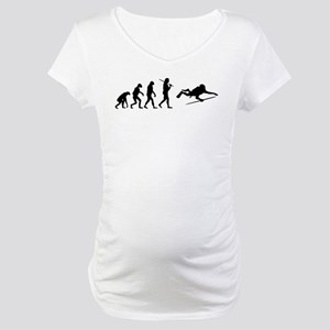 The Evolution Of The Scuba Diver Maternity T-Shirt