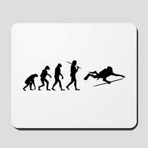The Evolution Of The Scuba Diver Mousepad