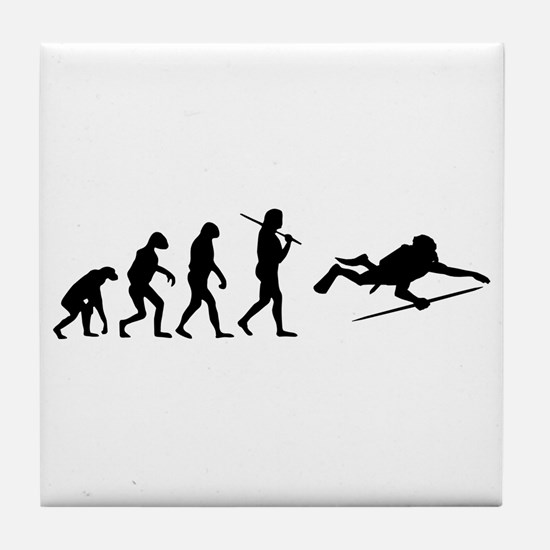 The Evolution Of The Scuba Diver Tile Coaster