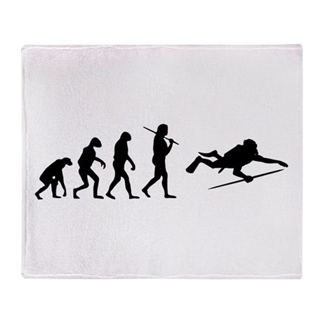 The Evolution Of The Scuba Diver Throw Blanket