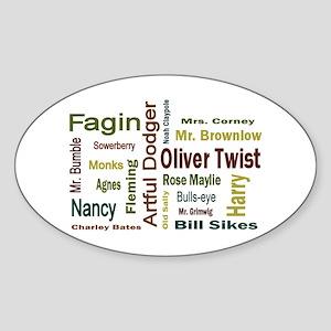 Oliver Twist Folks Sticker (Oval)