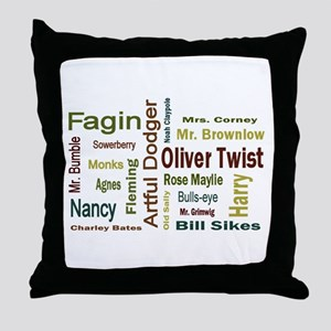 Oliver Twist Folks Throw Pillow