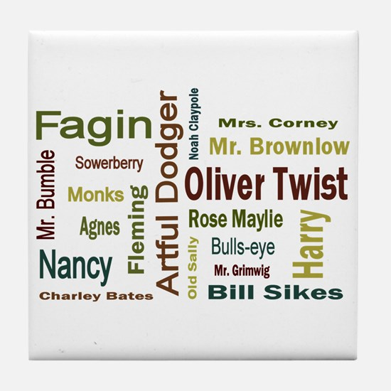 Oliver Twist Folks Tile Coaster