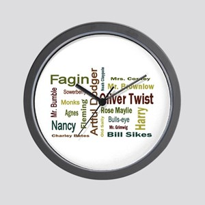 Oliver Twist Folks Wall Clock