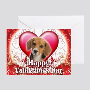Happy Valentine's Day Beagle Greeting Card