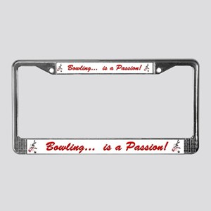 Passion for Bowling License Plate Frame