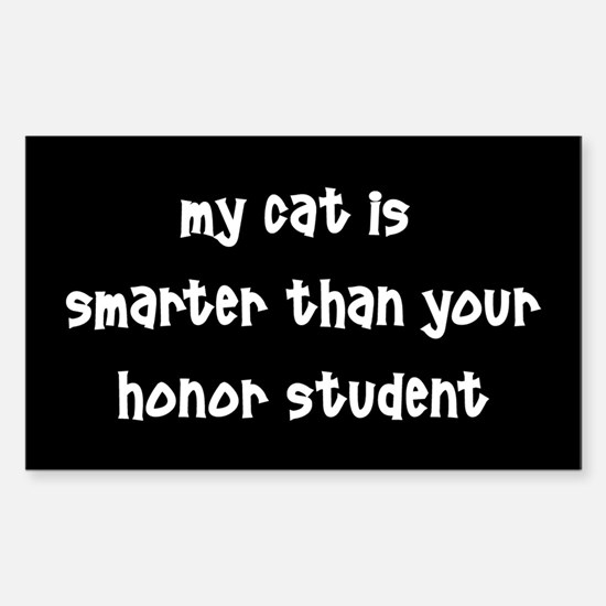 Cat Honor Sticker (Rectangle)
