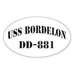 USS BORDELON Sticker (Oval)