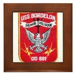 USS BORDELON Framed Tile