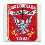 USS BORDELON Tile Coaster