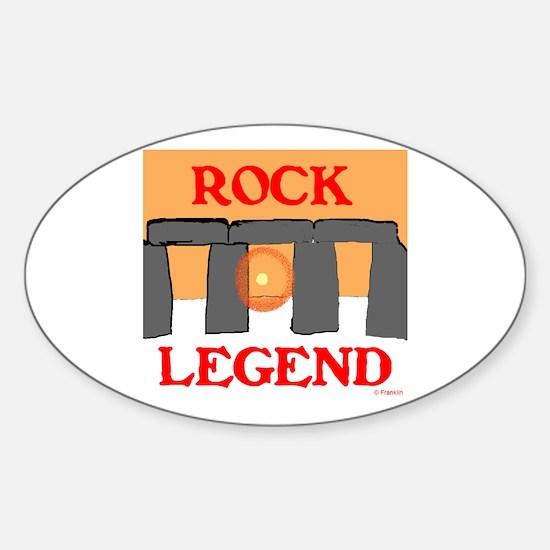 ROCK LEGEND Sticker (Oval)