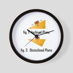 Disinclined Plane Wall Clock