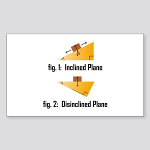 Disinclined Plane Sticker (Rectangle)