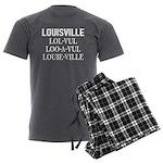 Louisville Men's Charcoal Pajamas